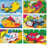 Picture cubes puzzle – cars, 3×5