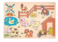 Peg puzzle – mill and domestic animals