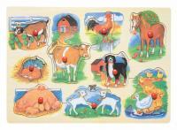Peg puzzle – farm animals