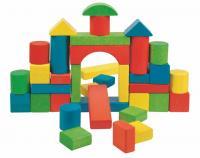 Toddler coloured blocks