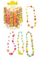 Holder with necklaces, combination of wood and plastic,displ. 72pcs