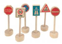 Trafic signs, 6 pcs
