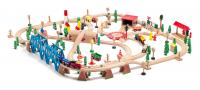 Railway set delivered in a wooden box, 170pcs
