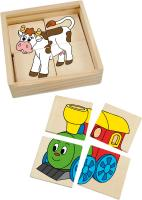 Mini puzzle in a wooden box – Happy Engine
