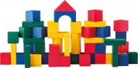 Coloured wooden blocks, 50pcs