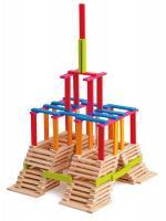 Wooden bricks - coloured - Emma, 200pcs