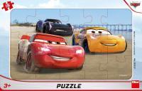 CARS Pretek 15 doskové Puzzle