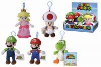 Plyšová klíčenka Super Mario, 12,5 cm, 5 druhů, DP12
