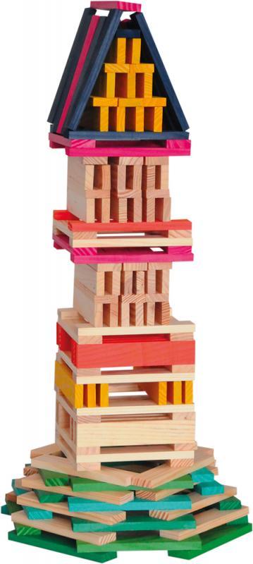 Wooden bricks - coloured - Simona, 200pcs : Woodyland B2B