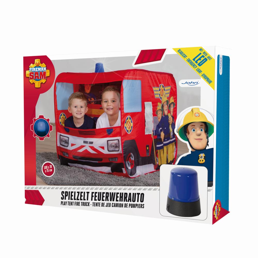 Stan hasičské auto Požárník Sam -svítící 100x70x75cm