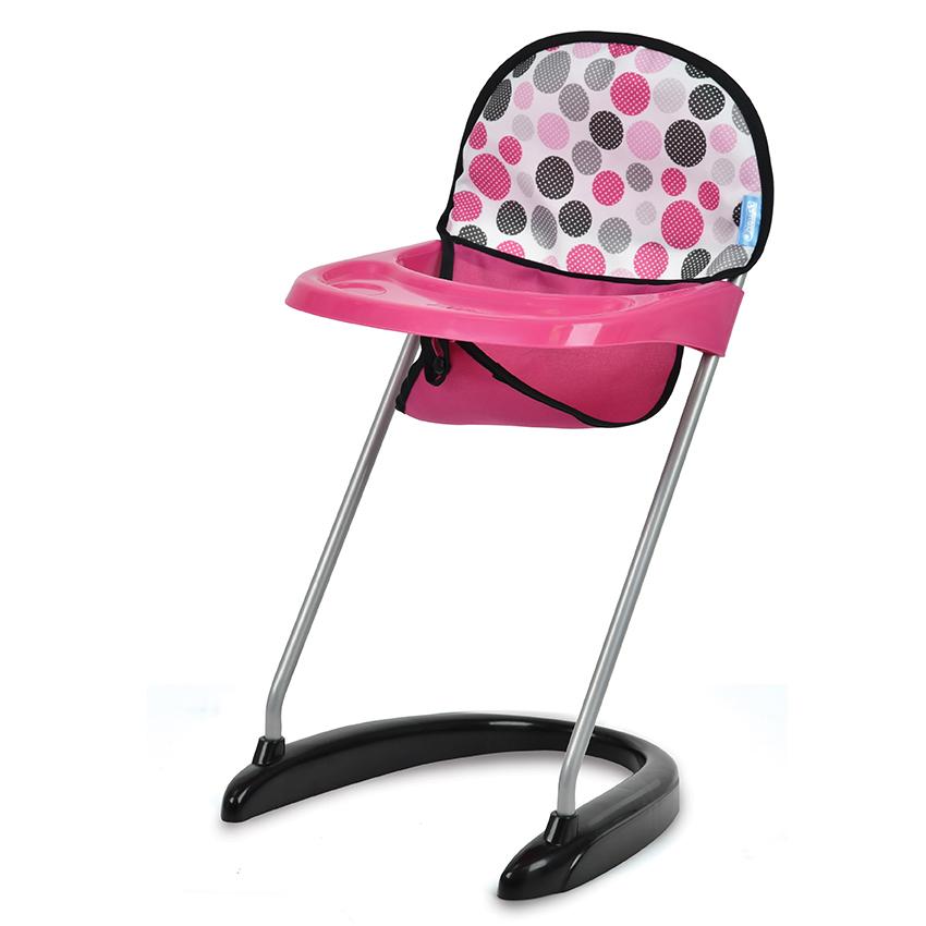 Jídelní židlička - puntíky
